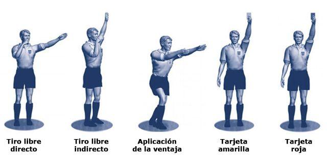 Resultado de imagen para señales en el fútbol arbitraje