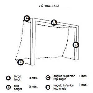 medidas portería futsal