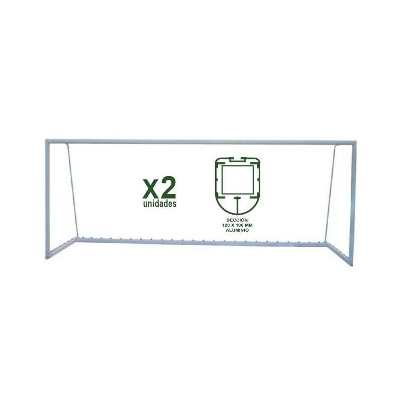Juego Porterías Fútbol 7 Trasladables - Aluminio Oval