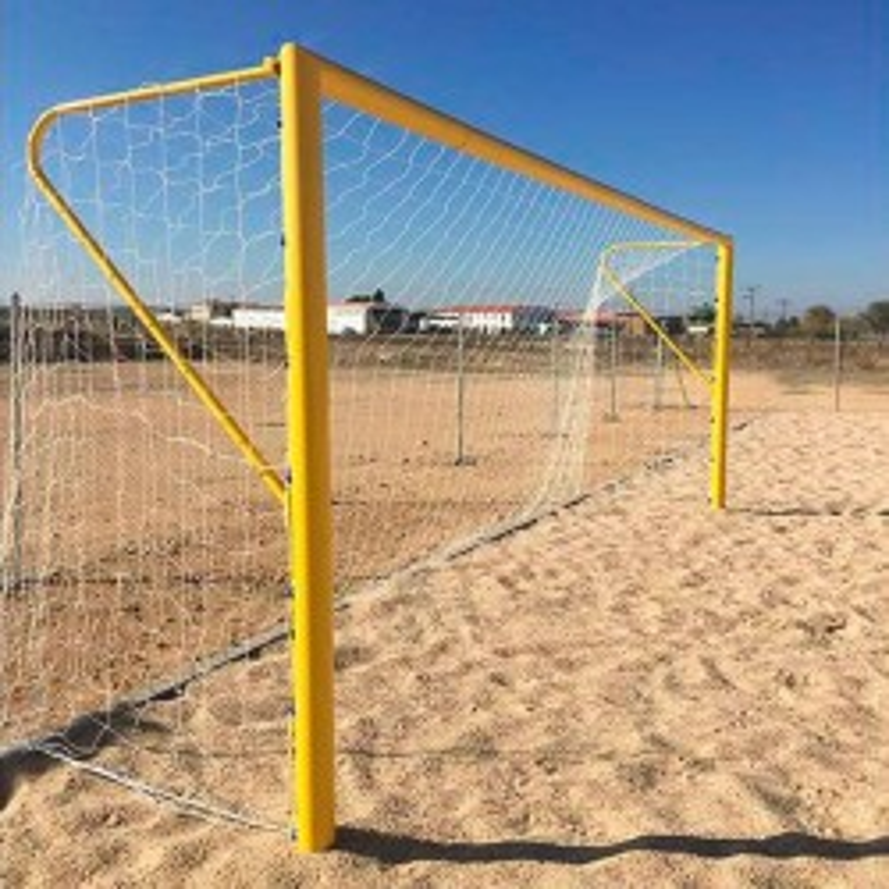 Juego Porterías Fútbol Playa - Acero Ø 100mm
