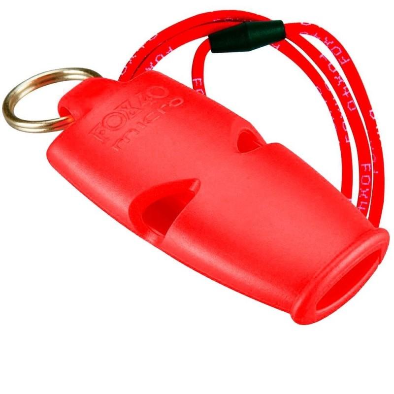 Silbato Fox 40 Micro Rojo Cordón