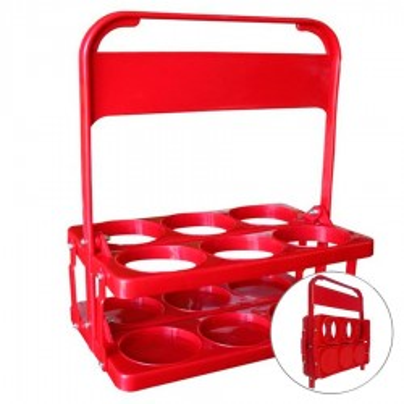 Portabotellas Plegable Basic Rojo