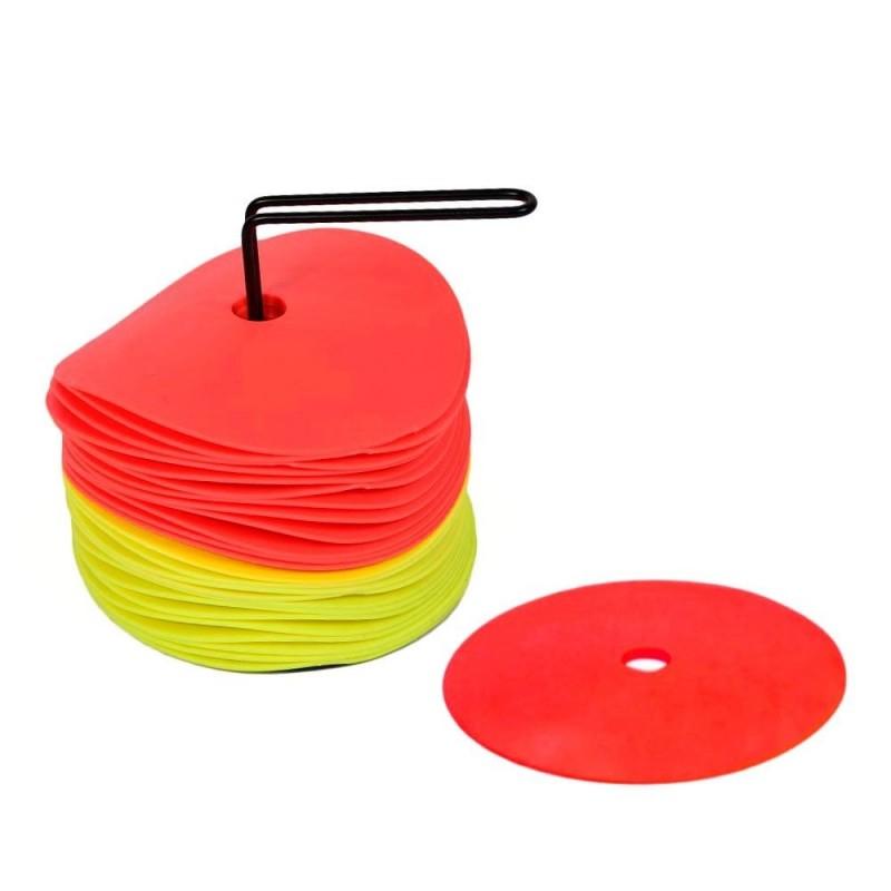 Set 24 Discos Delimitadores Entrenamiento Amarillo/Rojo