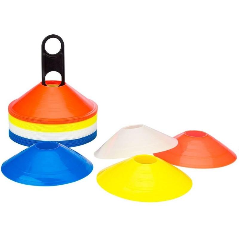 Set 40 Conos Entrenamiento Flexibles Zastor AG-404 4 Colores