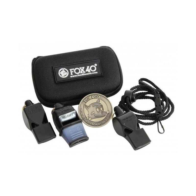 Pack 3 Silbatos Fox 40 Con Estuche y Moneda