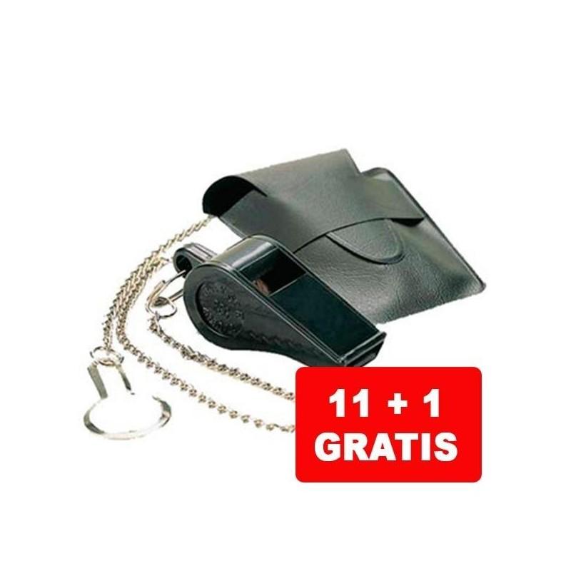 Caja 11+1 Silbato Gratis Naysir N-1B Con Cadena y Funda