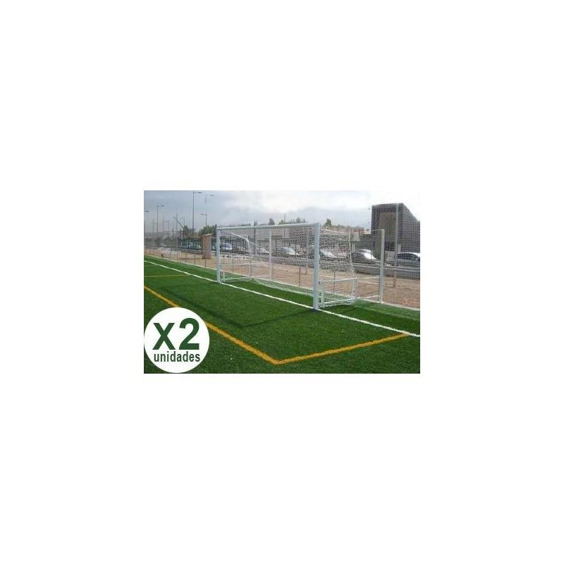 Juego Porterías Fútbol 7 ABATIBLES - Aluminio Oval