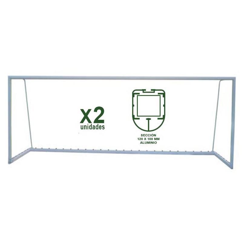 Juego Porterías Fútbol 11 Trasladables - Aluminio Oval