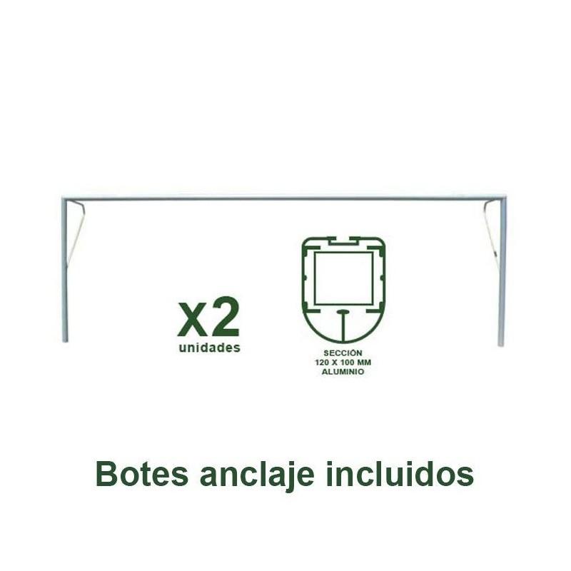Juego Porterías Fútbol 11 Fijas - Aluminio Oval