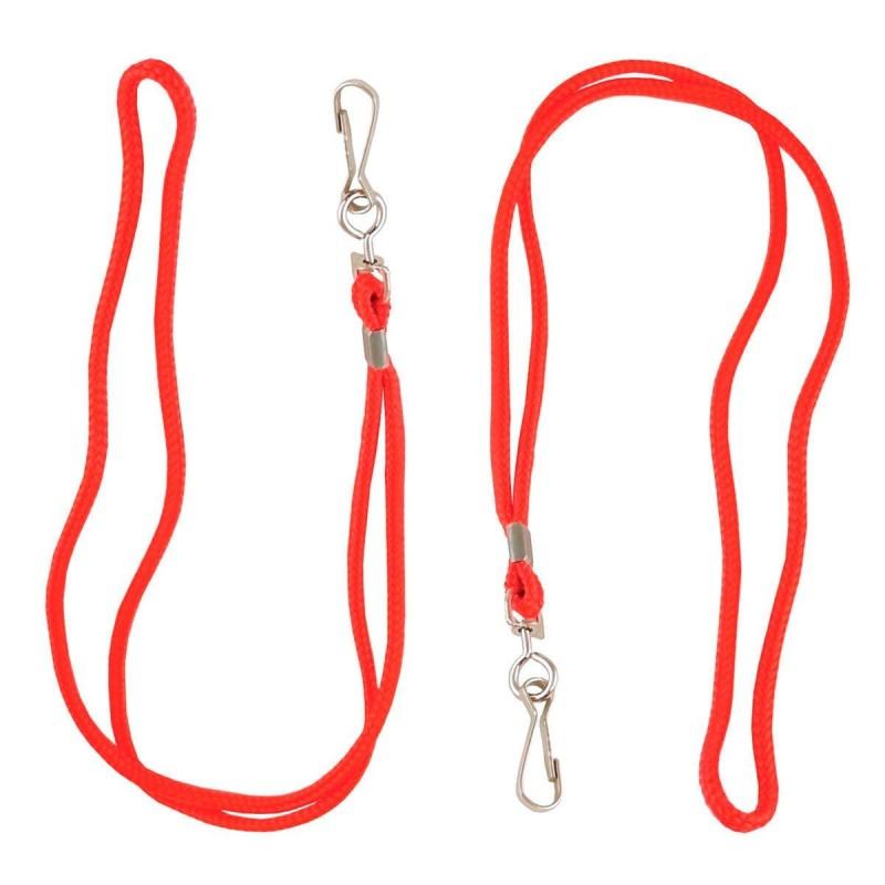 Cordón Silbato Zastor NECK Rojo con Mosquetón - 2 unidades