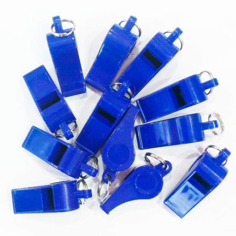 Pack 12 Silbatos Económicos Plástico Azul