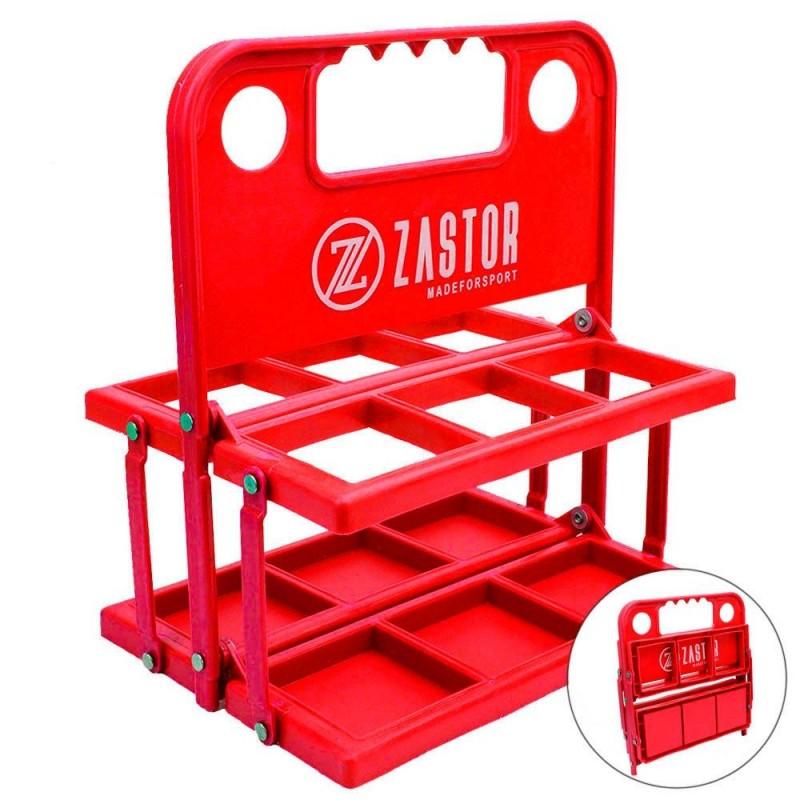 Portabotellas Plegable Zastor MOE-6 Botellas Rojo
