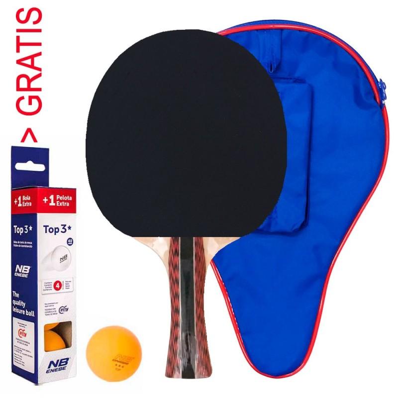 Set Pala Ping Pong Cup Experto con Funda - Pelotas NB 3* GRATIS