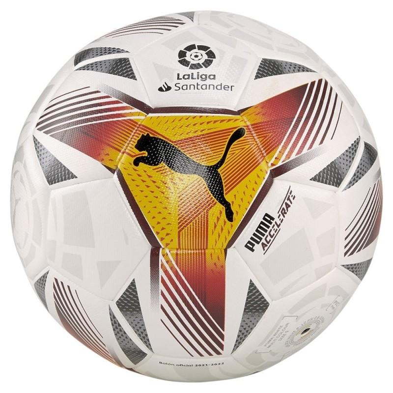 Balón Puma Laliga Accelerate Tamaño 5 que tiene una alta resistencia a la abrasión