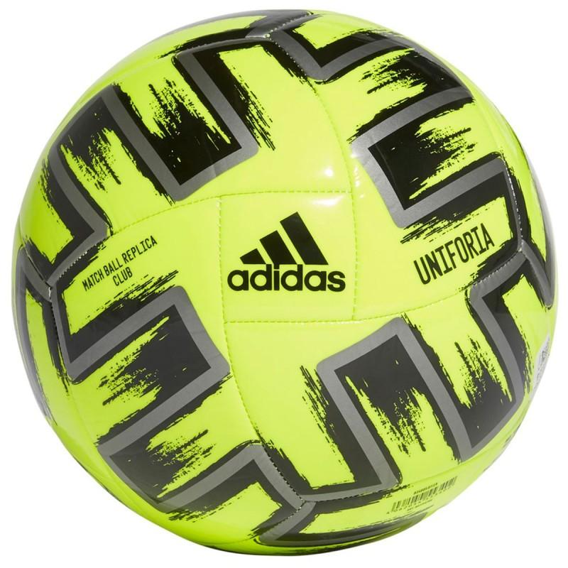 Balón Adidas de la UEFA Color Amarillo Neón, Negro Y plateado
