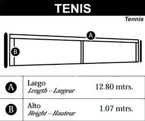 medidas red de tenis